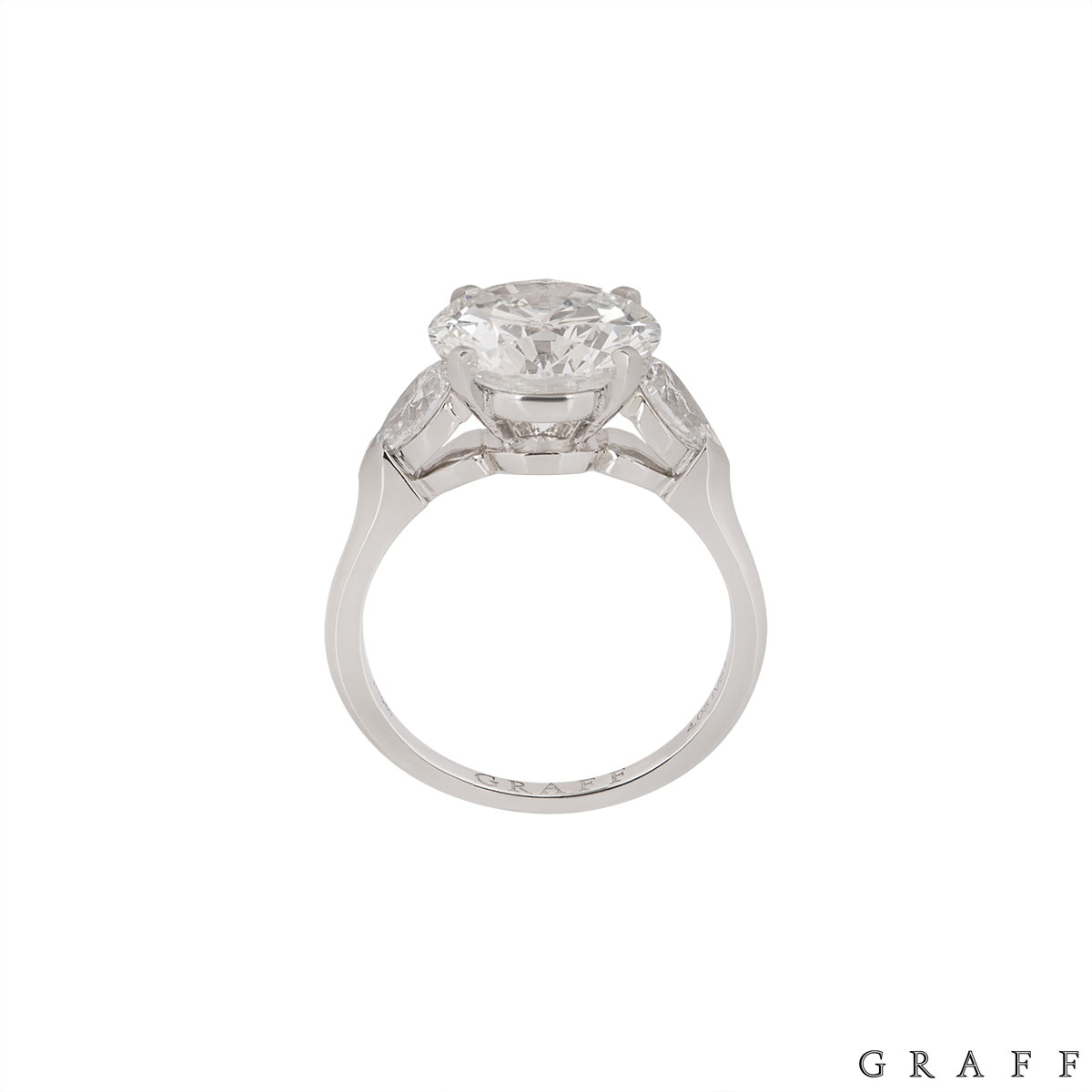Graff Platinum Diamond Promise Ring 4.04ct I/VVS2